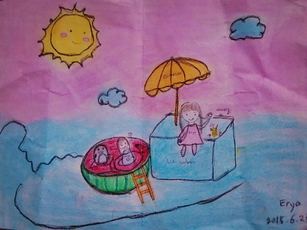 新年画画图片大全儿童画画图片大全元旦场景绘画